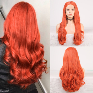 Image 1 - Charisma Body Wave Lace Front Wigs Free Part Red Wig Synthetic Lace Front Wig High Temperature Fiber Hair Women Wigs