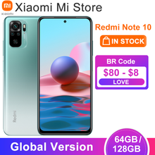 Xiaomi – téléphone portable Redmi Note 10, Version globale, 4 go de RAM 64 / 128 go de ROM, Snapdragon 678 Octa Core, batterie 5000mAh, Charge rapide 33W