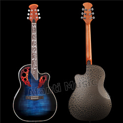 HOT! Afanti Music Super Roundback/ Carbon Fiber Back & Side Acoustic guitar with 4 sections EQ (ANT-160S)