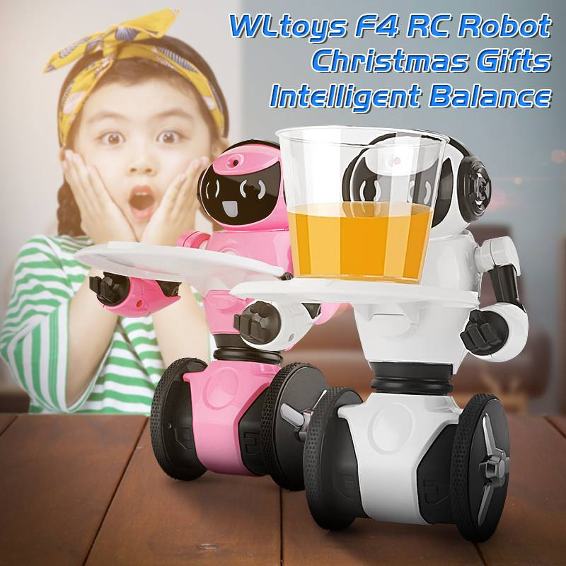 WLtoys F4 WIFI Camera Remote Control Robot Intelligent Balance Obstacle Avoidance RC Robot with Camera Mini Toys for Children