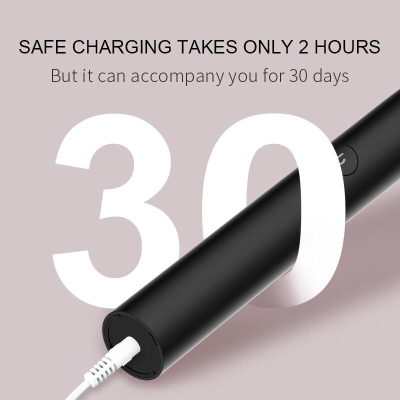 Image 2 - SEAGO Sonic Electric Toothbrush S2 USB Rechargeable Upgraded Ultrasonic Toothbrush Smart Timer Brush-in Electric Toothbrushes from Home Appliances