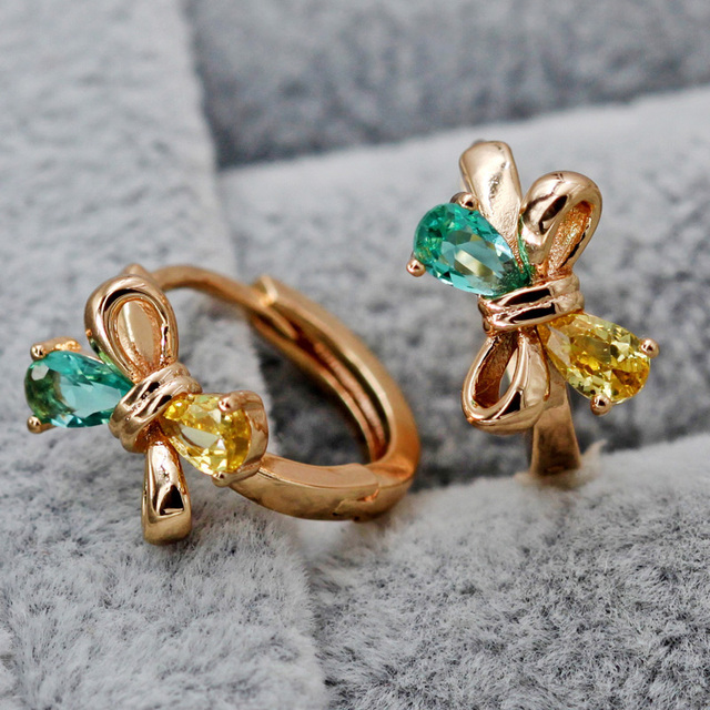 Fashion Jewelry Women s earring Bohemian Hoop Earrings Gold Hoops Earrings red green Zircon Earrings Style.jpg 640x640 - Fashion Jewelry Women's earring  Bohemian  Hoop Earrings Gold  Hoops Earrings  red green Zircon Earrings  Style accessories