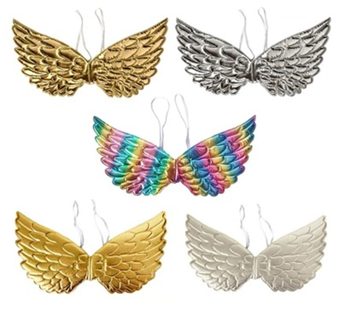 50PCS Cute Girl Child Angel Feather Wing Unicorn Wings Photo Prop Show Party Supplies Halloween Costume Holiday DIY Decoration