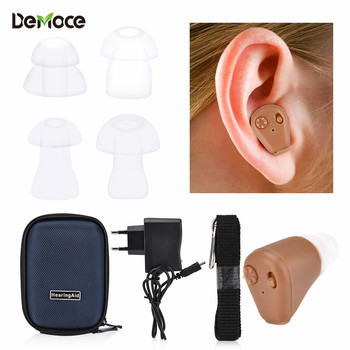 цена на Mini Rechargeable Hearing Aids Digital Invisible CIC Hearing Aid Sound Amplifier Ear Aid for The Elderly Care Deaf Hear Device