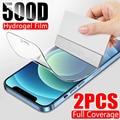 500D полная Защита экрана для айфона iPhone 11 12 Pro MAX Гидрогелевая пленка для гидрогель iPhone 7 8 6 6s 6 S Plus плюс мягкая защитная пленка XR XS MAX X 10 телефон