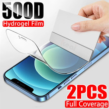 500D pełna osłona ekranu dla iPhone 11 12 Pro MAX hydrożel Film iPhone 7 8 6 6s Plus miękka folia ochronna XR XS MAX X