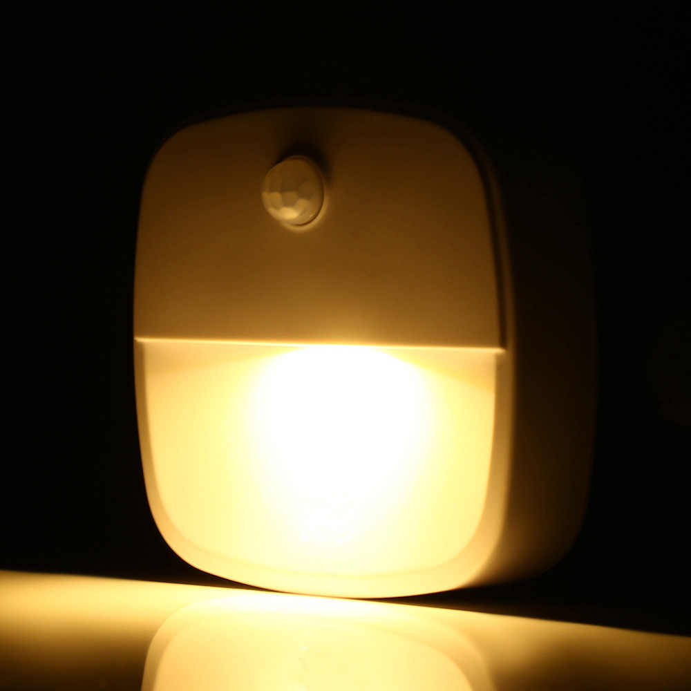Motion Sensor LED Night Light Stick-Anywhere Closet Light AAA battery Warm White Within 10ft Max Automatic lighting LED Lamp D35