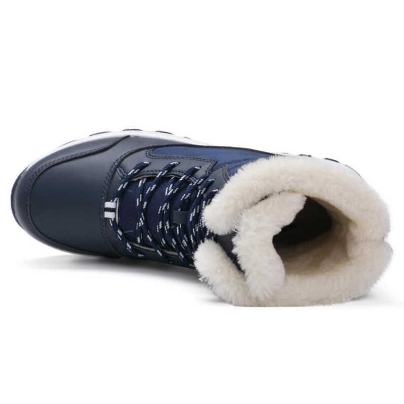 NAUSK נשים מגפי החלקה עמיד למים חורף קרסול שלג מגפי נשים פלטפורמת חורף נעליים עם עבה פרווה Botas Mujer