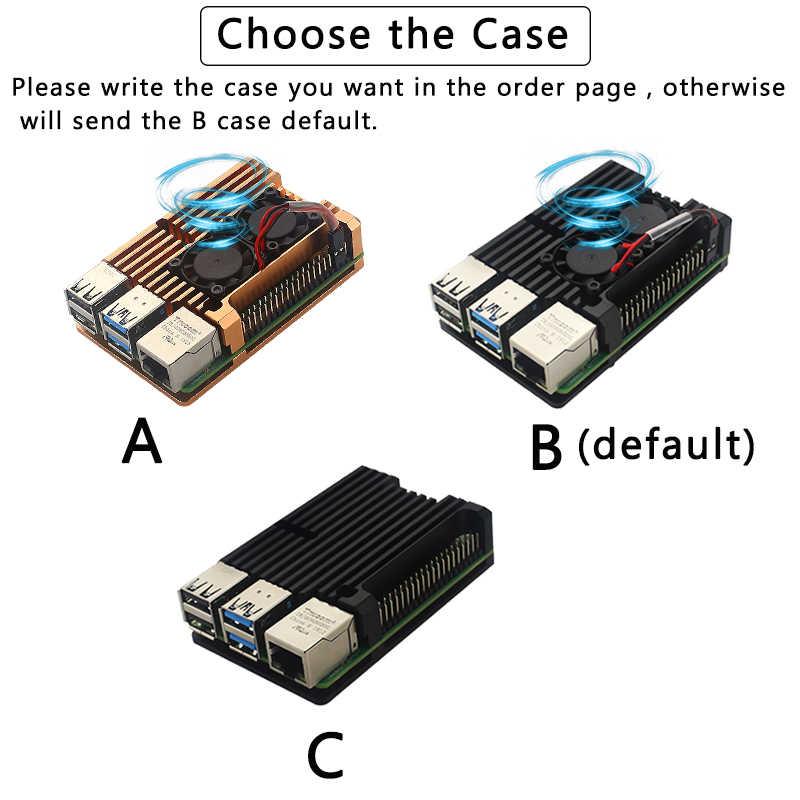 Original Raspberry Pi 4 Modell B Kit + Aluminium Fall + Kühlkörper + 3A Schalter Power + HDMI Kabel option 64 32GB SD Karte | Reader