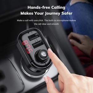 Image 4 - TOPK 4.1A podwójna ładowarka samochodowa USB nadajnik FM Bluetooth Car Audio odtwarzacz MP3 szybka ładowarka samochodowa ładowarka do telefonu iPhone