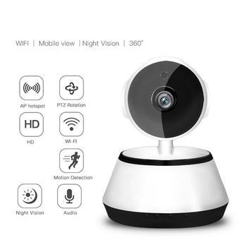 WIFI IP Camera 720P Night Home Security Wireless P2P Indoor Baby Motion Surveillance IR Cam PTZ Audio CCTV Support Micro SD card