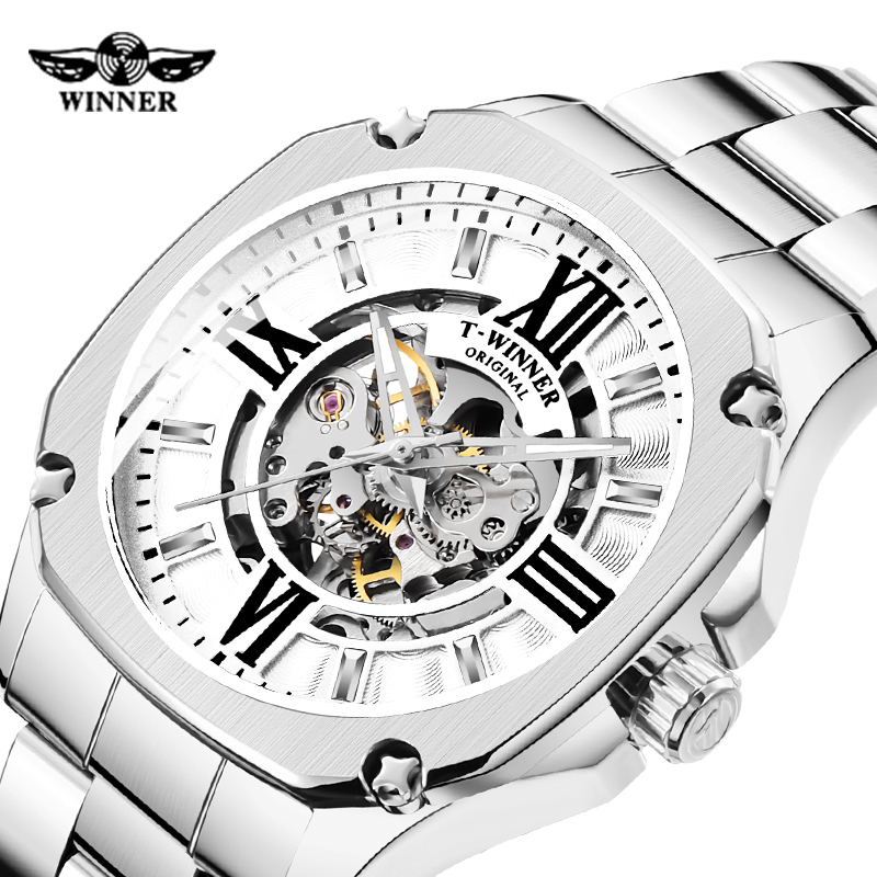 Automatic Mechanical Watch Mens Watches Luxury Fashion Winner Brand Skeleton Watches for Mens Gifts Relogio Masculino Male Clock