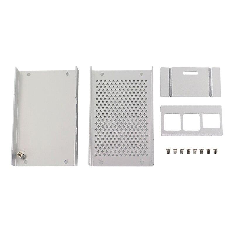 aluminum alloy Aluminum Alloy Metal Case Cooling Heatsinks Black Silver Fit For Raspberry Pi 4 Metal Enclosure Protective Box Shell Case (4)