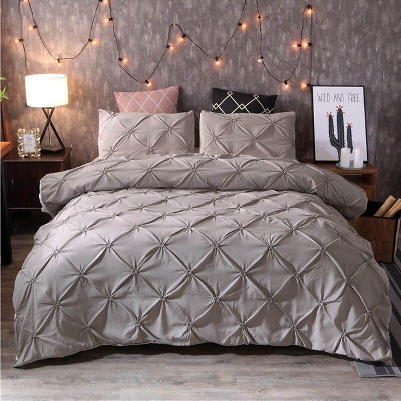 Yimeis lit couette couleur unie pleine grandeur couette ensembles de literie draps de lit modernes et taies d'oreiller BE45121