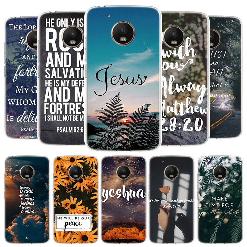Bible Verse Jesus Christ Christian Cover Phone Case For Motorola Moto G8 G7 G6 G5S G5 E4 Plus G4 E5 E6 Play Power One Action EU