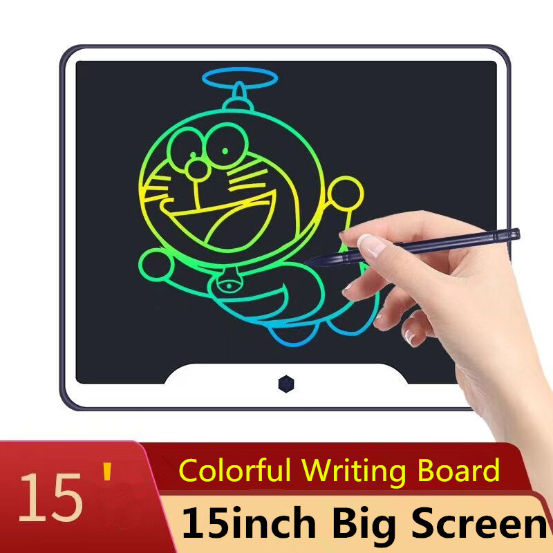 "New 15 inch LCD Writing Tablet Board Electronic Small Blackboard Paperless Office Writing Board 15"" Colorful with Stylus Pens"