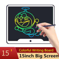 """New 15 inch LCD Writing Tablet Board Electronic Small Blackboard Paperless Office Writing Board 15"""" Colorful with Stylus Pens"""