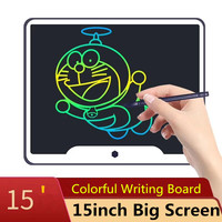 New 15 inch LCD Writing Tablet Board Electronic Small Blackboard Paperless Office Writing Board 15 Colorful with Stylus Pens