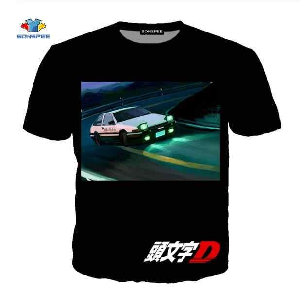 SONSPEE アニメ頭文字 D AE86 男性の Tシャツカジュアルヒップホップ半袖日本の漫画の男性女性の Tシャツトップスシャツ