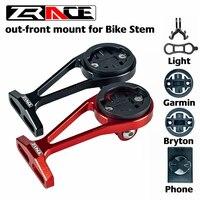 Zrace ciclismo suporte do computador  haste de bicicleta guiador borda estendida montagem-suporte frontal para gramin bryton igpsport gopro móvel