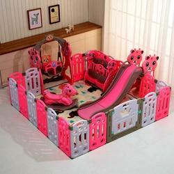 Kinderen spelen hek opvouwbare baby kruipen mat peuter veiligheidshek hek thuis indoor speeltuin