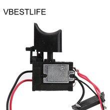 7.2 V-24 V matkap hız kontrol matkap anahtarı lityum pil akülü matkap hız kontrol tetik anahtarı küçük ışık