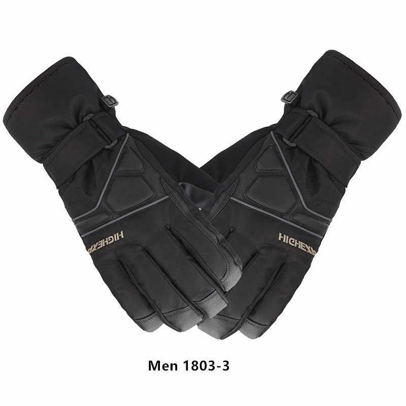 Mens Winter Ski Snowboard Gloves Sports Thermal Warm Waterproof Gloves Mitts