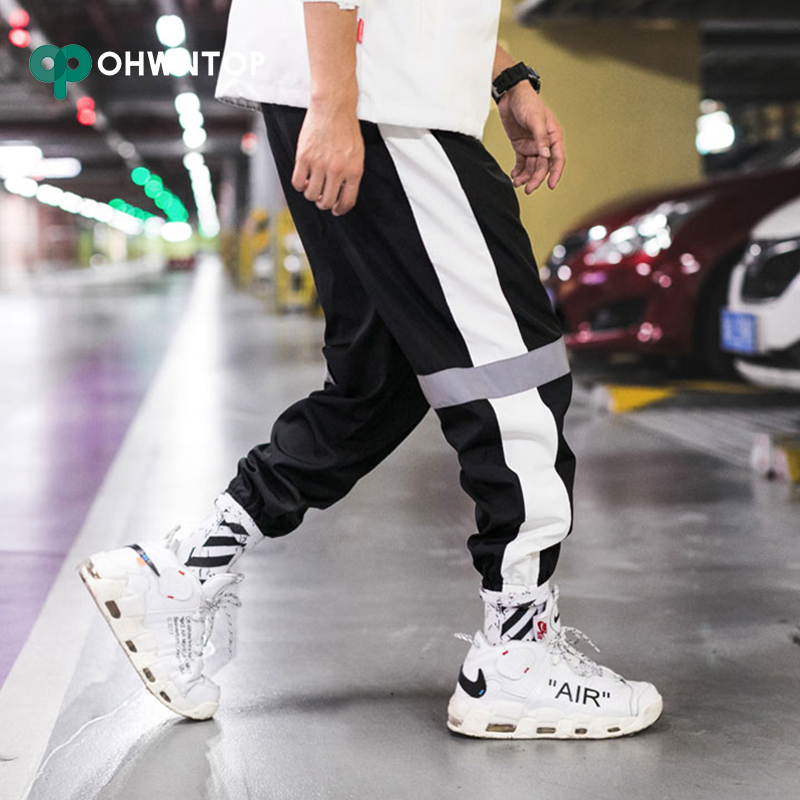 Hot Sale Men's Side Striped Harem Pants Tide Brand Sweatpants Male Urban Casual Fashion Joggers Trousers Men Hip Pop Streetwear