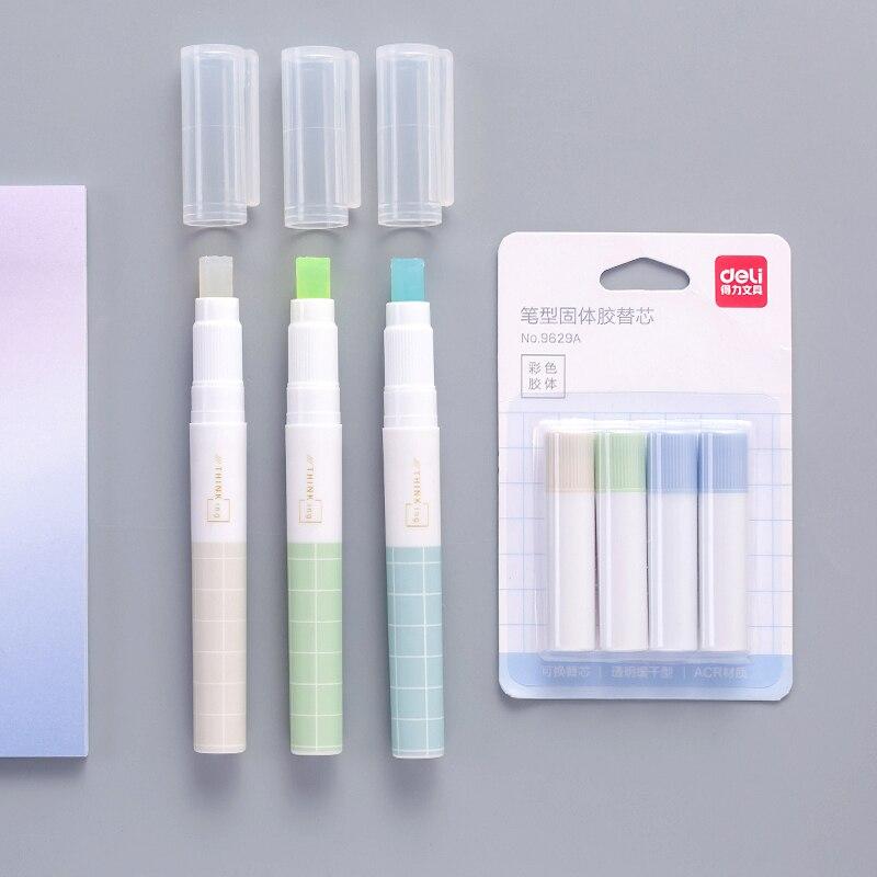 1pc Random Translucent Handmade Glue Diary Adhesives Glue Stick Student Stationery Solid Glue High Viscosity School Supplies