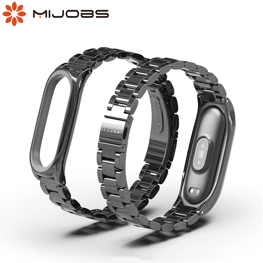 Mi Band 5 NFC Global Version Strap for Xiaomi Mi Band 4 Strap Metal Wrist Bracelet Mi Band 3 Wristband Stainless Steel Pulseira image
