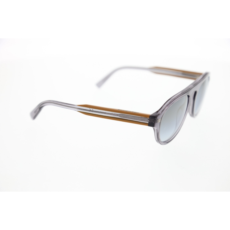 Unisex sunglasses ez 0099 20c bone smoked organic drop aval 53-19-145 ermenegildo zegna