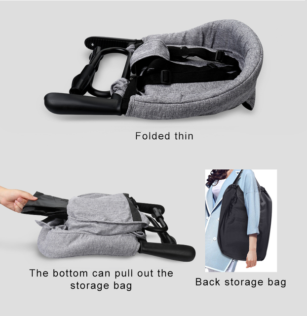 Portable Baby Highchair Foldable Feeding Chair Seat Booster Safety Belt Dinning Hook-on Chair Harness Infant Lunch Cushion Mat 1