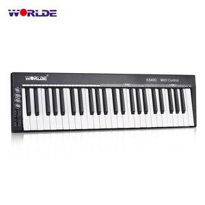 На выбор KS49C-A 49-ключ USB MIDI контроллер клавиатуры встроенный источник звука с 6,35 мм гнездо для педали средней длины миди клавиатуры