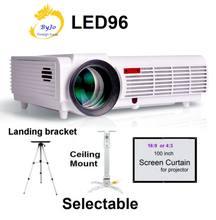 Светодиодный проектор Poner Saund 96, видео-проектор HDMI 1280x800 Full HD 1080P, проектор для домашнего кинотеатра с высоким люменом, 3D-проектор BT96