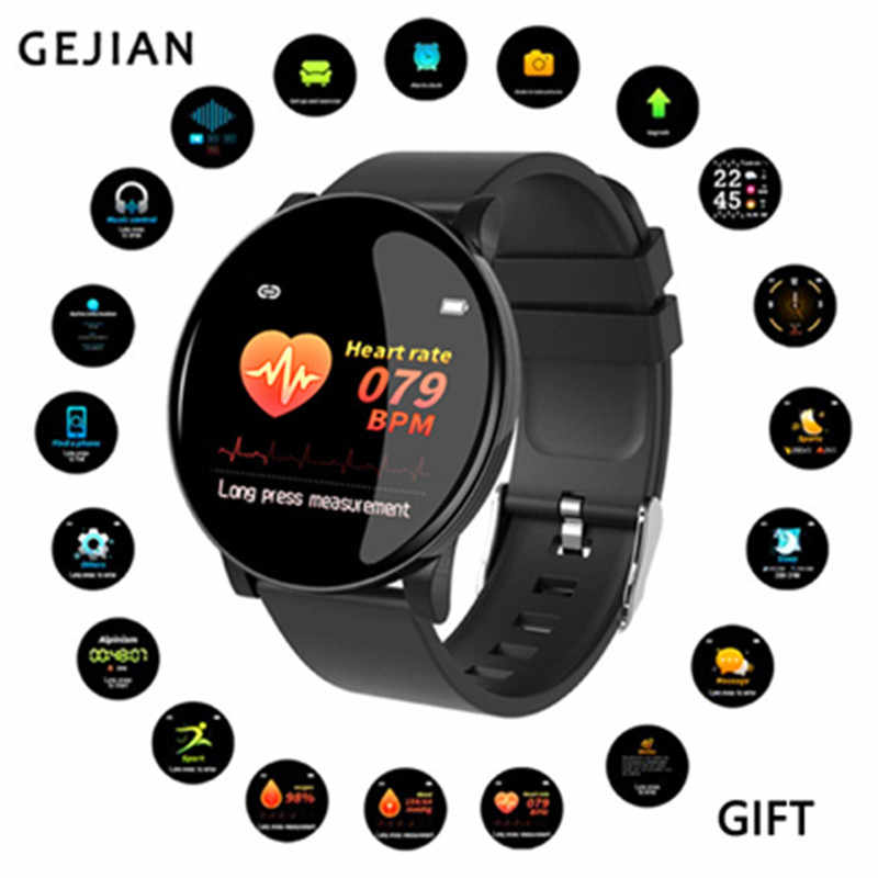 GEJIAN Smart Watch Men Blood Pressure Heart Rate Monitor Fitness Sport Women Fashion Call Reminder Bluetooth Smart Band