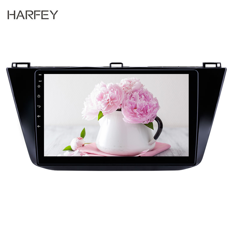 Harfey 9inch 2din Android 8.1 Car Multimedia Player Stereo Radio GPS for VW Volkswagen Tiguan 2016 2017 2018 with Bluetooth USB image