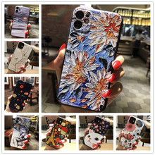 3D Relief Telefon Fall Für Samsung A51 A71 S20 Ultra Plus 2020 Fall Floral Silicon Abdeckung Für Samsung Galaxy M31S m31 EINE 51 71 Fall