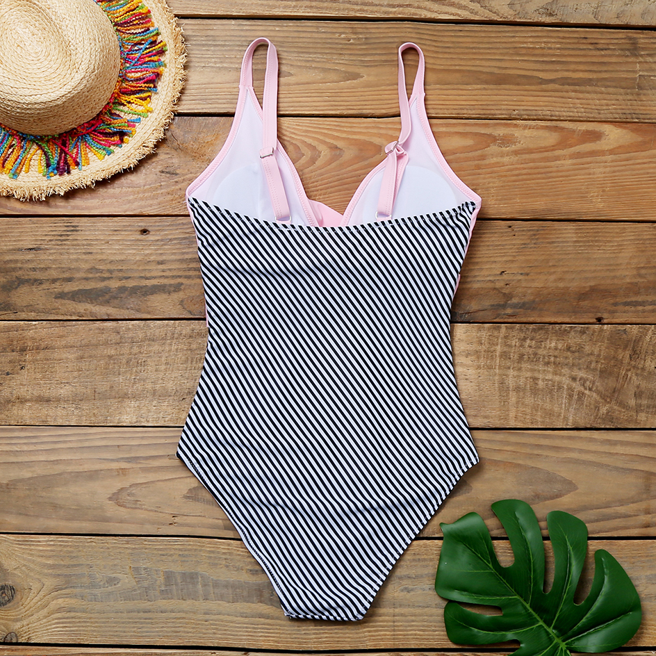 Sexy Deep V Swimwear Women 2020 One Piece Swimsuit Push Up Bathing Suit Women Swimming for Beachwear Monokini Plus Size Swimwear 5