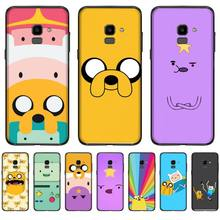 adventure time cute Beemo BMO Jake Finn Lumpy Phone Cover For Samsung J2 J4 J5 J6 J7 J8 2016 2017 2018 Prime Pro plus Neo duo adventure time backpack with finn and jake cn bmo backpack beemo be more cartoon robot high grade pu green