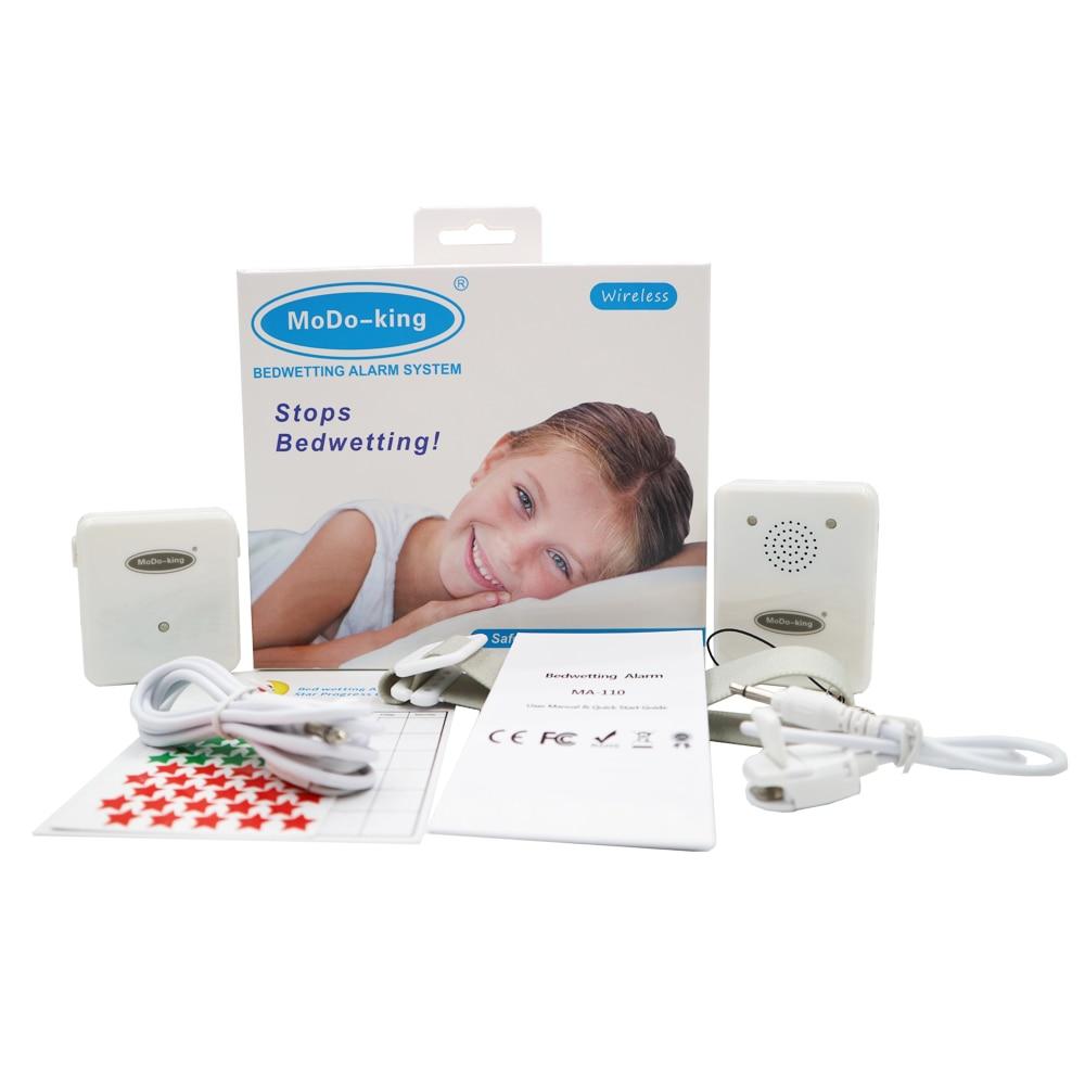 MoDo-king Wireless Reception Distance 30 Meters Bedwetting Alarm For Baby Kids Music Reminder Enuresis Alarm Nocturnal Enuresis