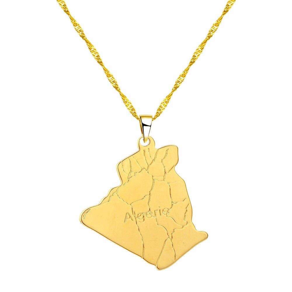 CHENHXUN CHENGXUN кулон Карта Африки ожерелье подарок золотой цвет длинная цепочка торговля Африканская Карта для мужчин и женщин модный подарок для ювелирных изделий - Окраска металла: 07