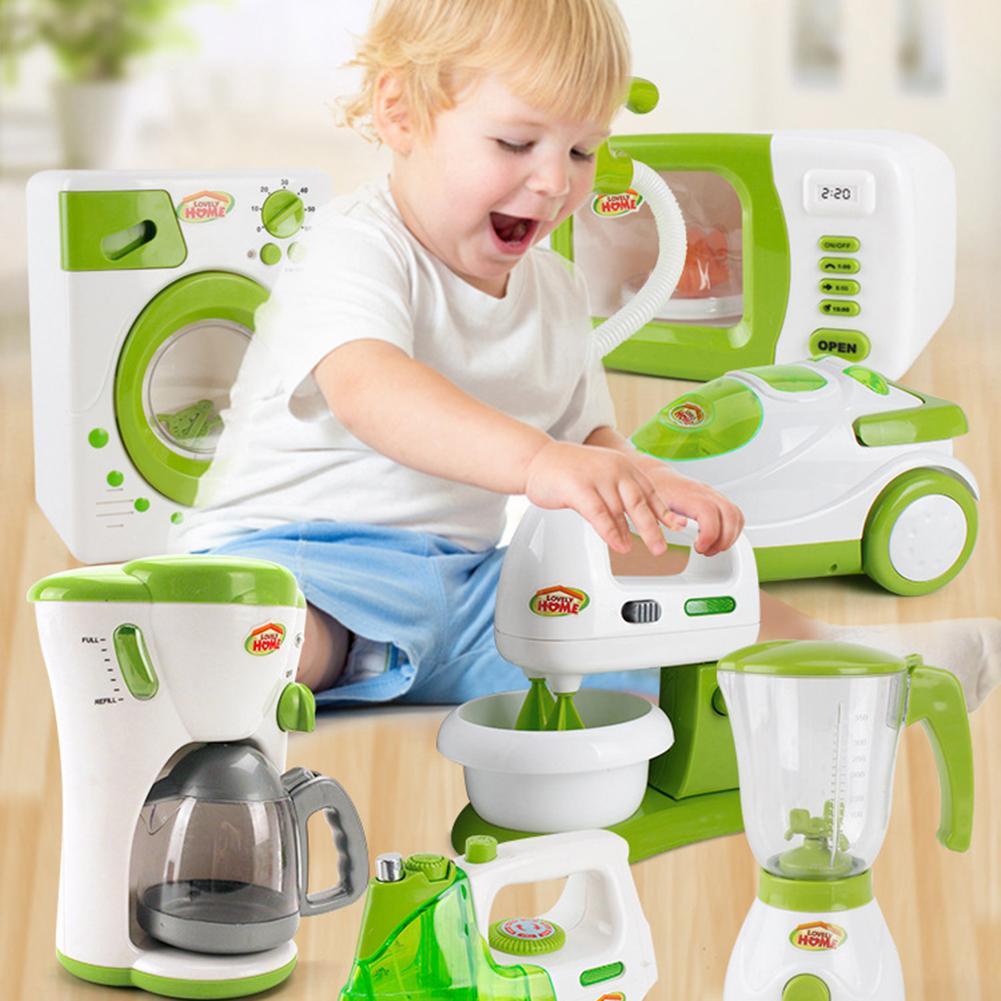 Kids Simulation Mini Home Appliances Toys Electric Iron Kitchen Pretend Play Toy Gift Educational Toy