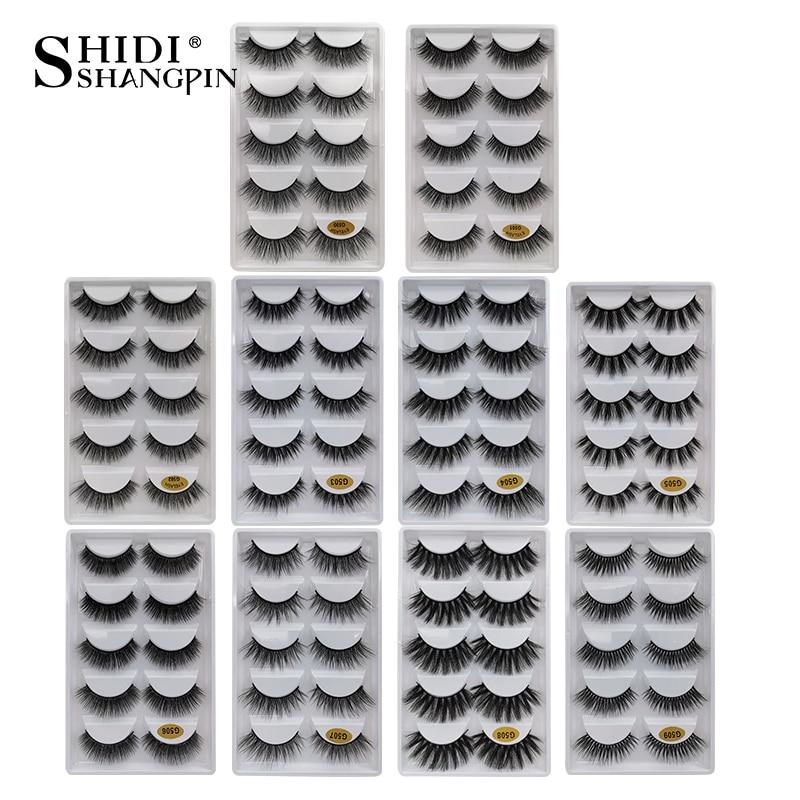 New 5 Pairs False Eyelashes Natural Mink Eyelashes Handmade 3d Mink Lashes Dramatic False Eyelash For Makeup Maquiagem Mink Cilo
