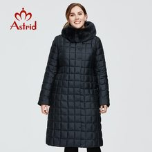 Women's Coat Jacket Clothing Parka Large-Sizes Winter Rabbit-Fur-Hood Warm Long New Astrid