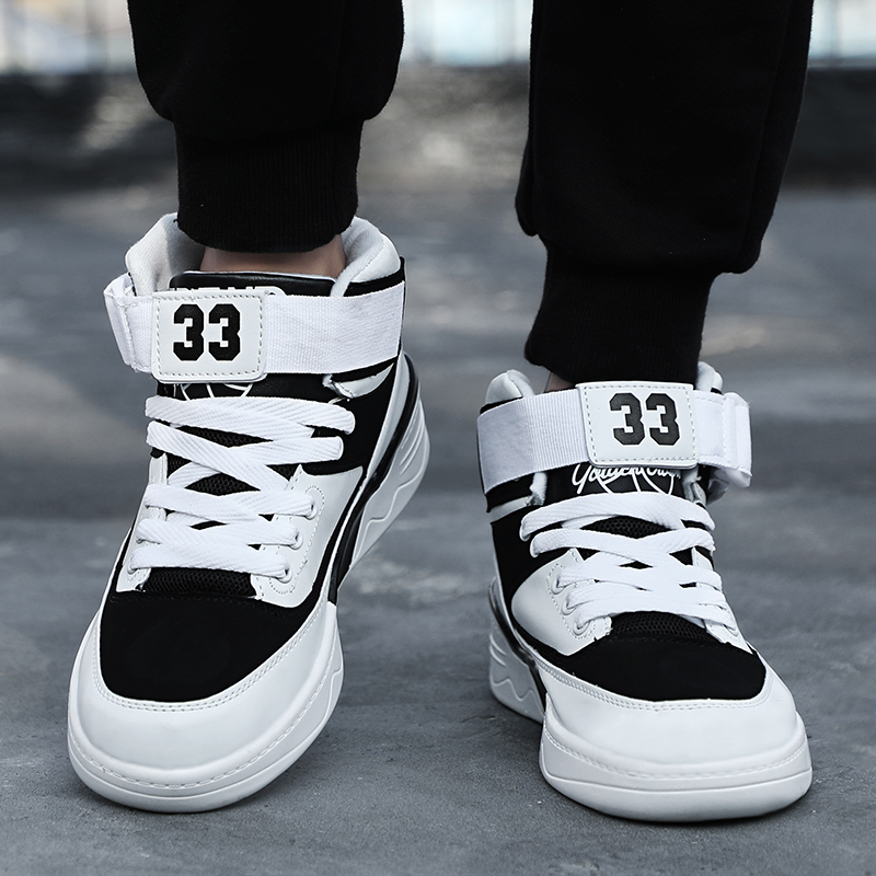 Goodrsson New Fashion High Top Comfortable Winter Sneakers For Men Shoes Inside Velvet Hook & Loop Design Casual