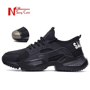 Image 1 - New song card Lightweight fashion breathable Work sneakers Safety Shoes men and women steel toe cap Anti crush work safety Boots