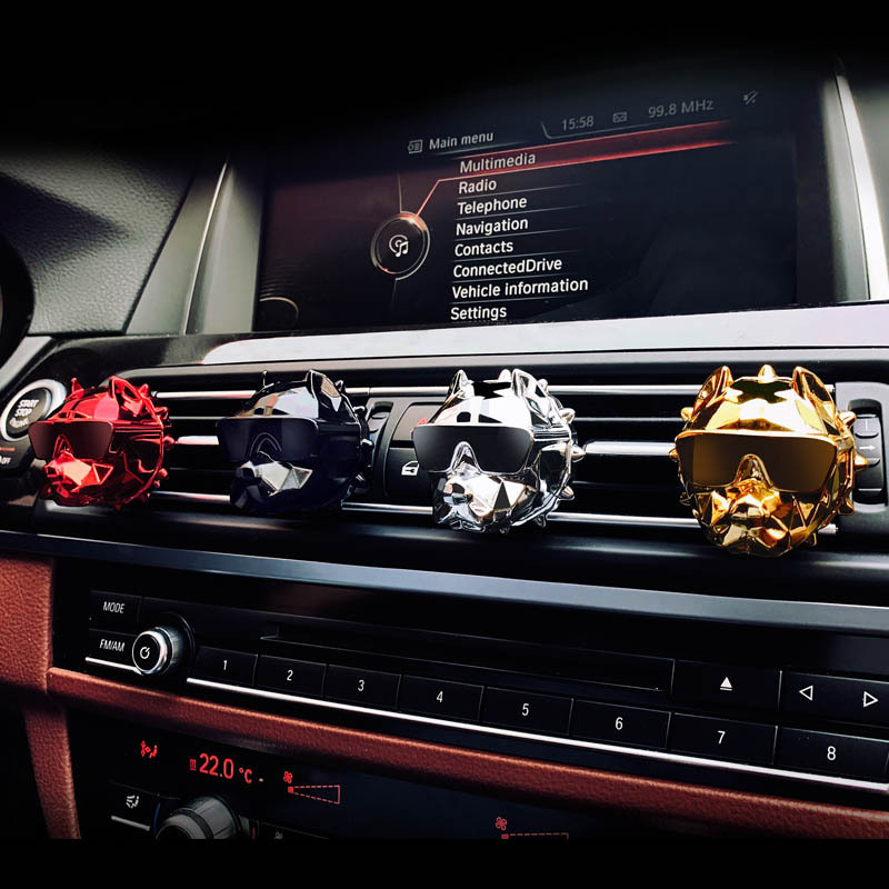 Bulldog Car Air Freshener Perfume Clip Fragrance Diffuser Auto Vents Scent Odor Freshener Perfume DIY Bulldogs Decor KakaoTalk