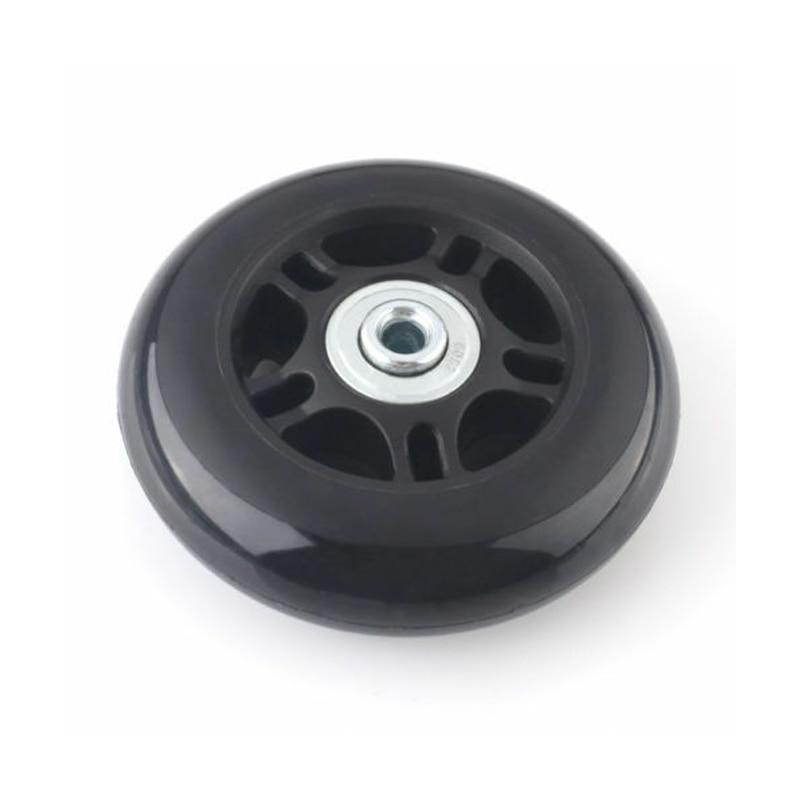 2 pces preto bagagem saco mala substituição rodas de borracha eixos reparação acessórios sem rodízios od 40mm/54mm/60mm/64mm/80mm-4