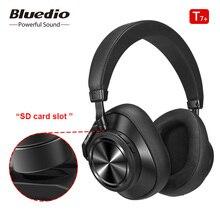 Bluedio T7 artı Bluetooth kulaklık kullanıcı tanımlı aktif gürültü iptal kablosuz kulaklık telefonları için desteği SD kart yuvası