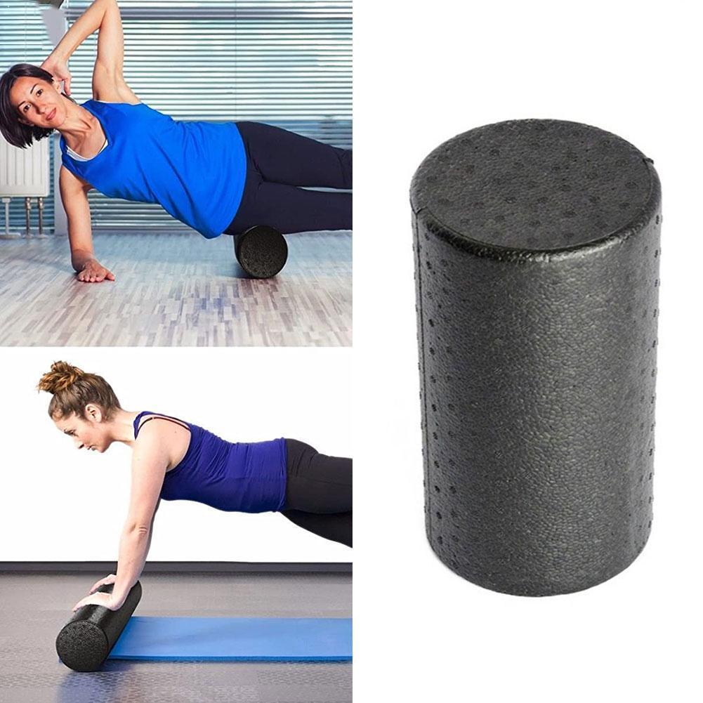 New 30x15cm EPP Foam Roll High Fitness Massage Roller Balance Yoga Block Equipment Sports Exercise Workout Brick Black Y7C6